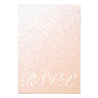 Elegant Peachy Pink Sparkle RSVP Invites