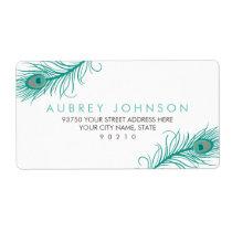 Elegant Peacock Address Labels