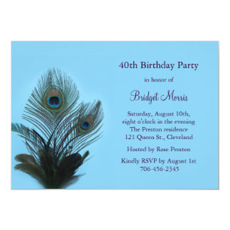 Elegant Peacock Birthday Invitation
