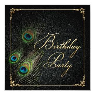 Elegant Peacock Birthday Party Invitation