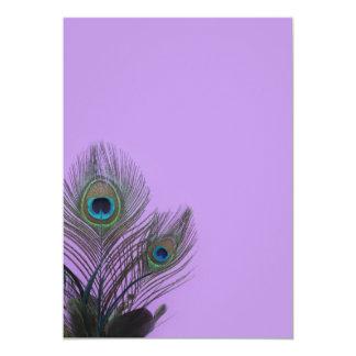 Elegant Peacock Blank Invitation (purple)
