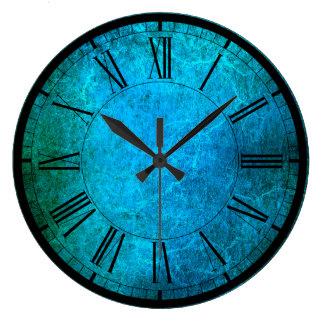 Elegant peacock colors wall clock