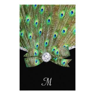 Elegant Peacock & DIamonds Wedding Stationery