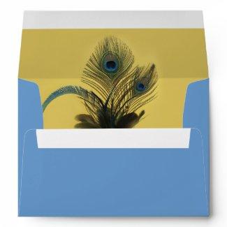 Elegant Peacock Envelope (yellow)