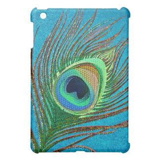 Elegant peacock feather blue  case for the iPad mini