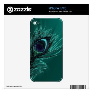 Elegant Peacock feather iPhone skins iPhone 4 Skins