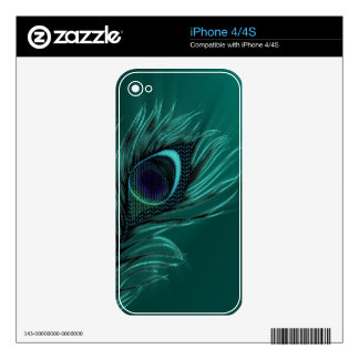 Elegant Peacock feather iPhone skins iPhone 4 Skins