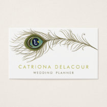 Elegant Peacock Feather Stylish Business Card