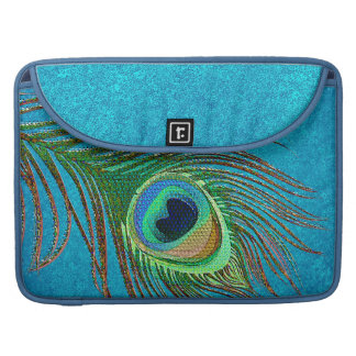 Elegant peacock feathers MacBook Sleeves
