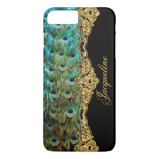 Elegant Peacock Feathers Vintage Baroque Rococo iPhone 7 Plus Case