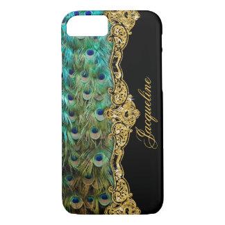 Elegant Peacock Feathers Vintage Baroque Rococo iPhone 8/7 Case