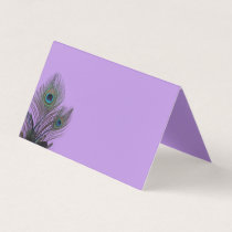 Elegant Peacock Folded Place Cards