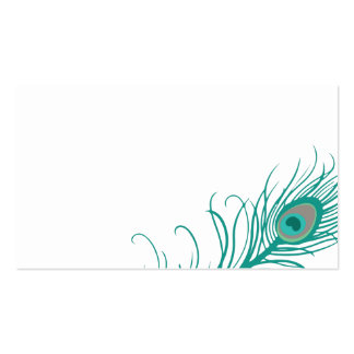 Elegant Peacock Guest Table Escort Cards Business Card