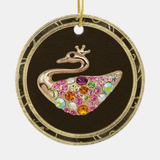 Elegant Peacock Jewels Photo Print Ornament