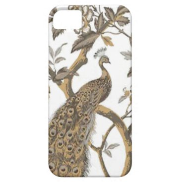 Elegant Peacock On White iPhone 5G Case
