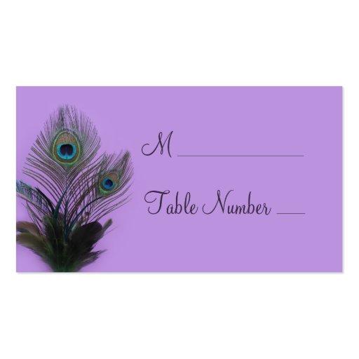 Elegant Peacock Place Card (purple)