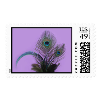 Elegant Peacock Stamp (purple)
