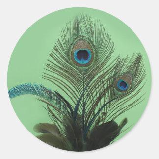 Elegant Peacock Sticker (green)
