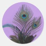 Elegant Peacock Sticker (purple)