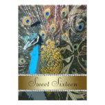 Elegant Peacock Sweet Sixteen Party Invitation