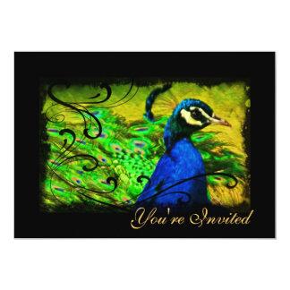 Elegant Peacock Swirl All Occasion Invitation