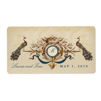 Elegant peacock theme shipping label