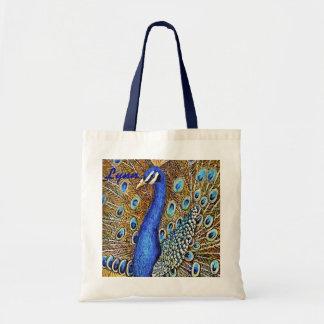 Elegant Peacock Tote Budget Tote Bag