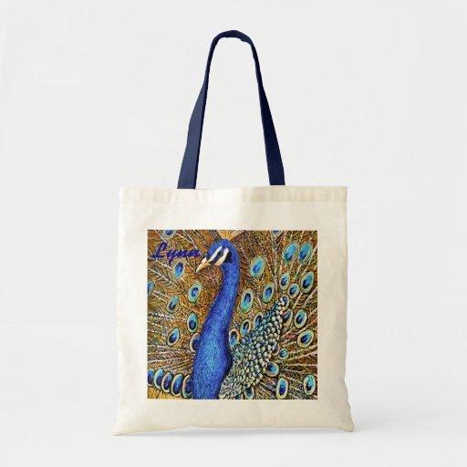 Elegant Peacock Tote Bags