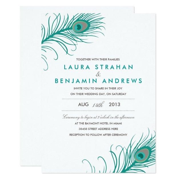 elegant peacock wedding invitation   zazzle, Wedding invitations
