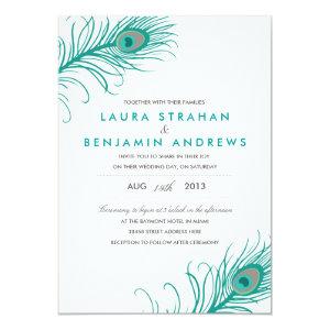 Elegant Peacock Wedding Invitation 5