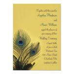 Elegant Peacock Wedding Invitation (yellow)