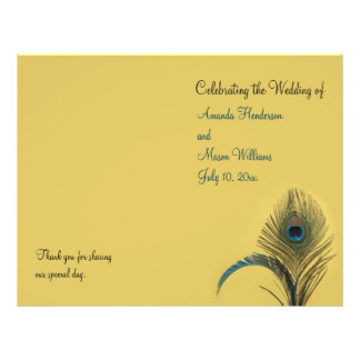 Elegant Peacock Wedding Program