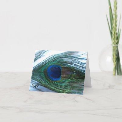 Elegant Wedding Cards on Elegant Peacock Wedding Rsvp Cards