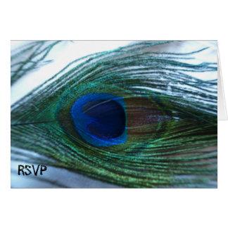 Elegant Peacock Wedding RSVP Card