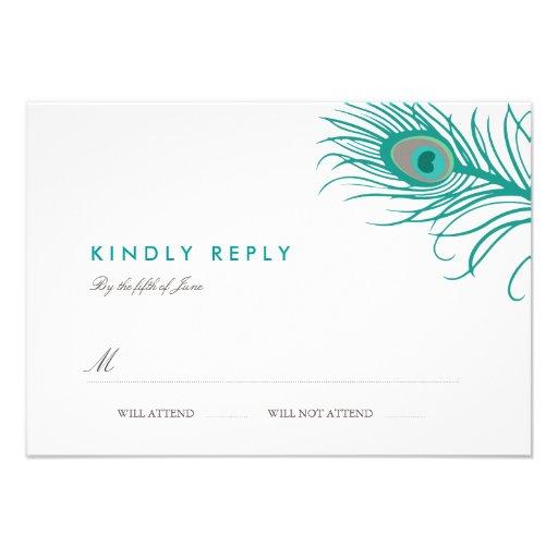 Elegant Peacock Wedding RSVP Custom Invitations