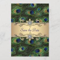 Elegant Peacock Wedding Save The Date
