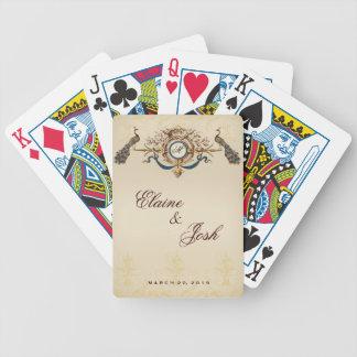 Elegant Peacocks Bicycle Playing Cards