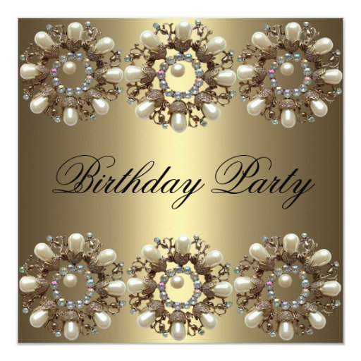 Elegant Pearl Birthday Invitation