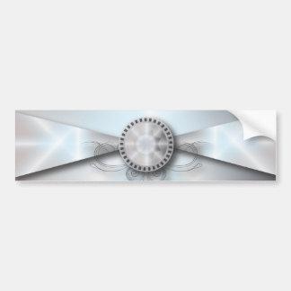 Elegant Pearl Diamond Love Wedding Bumper Sticker