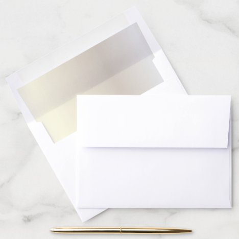 Elegant Pearl Tone Wedding | Anniversary Envelope Liner