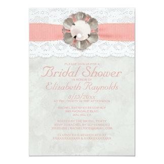 Elegant Pearls Bridal Shower Invitations