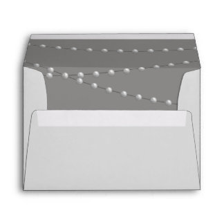 Elegant Pearls on Gray Envelope