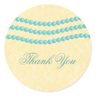 Elegant Pearls Thank You Envelope Seals sticker