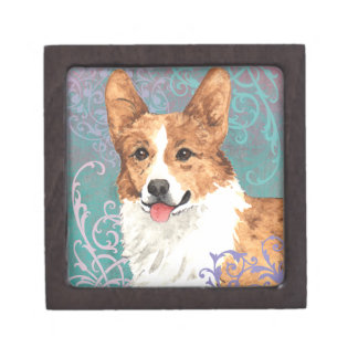 Elegant Pembroke Welsh Corgi Jewelry Box