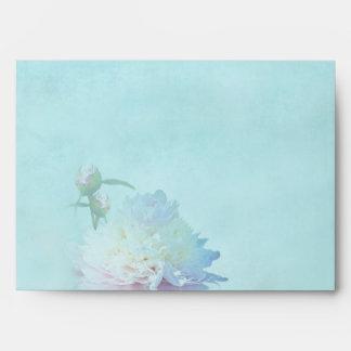 Elegant Peony Envelope - Reflections