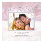 Elegant Peony Save the Date: Silver Custom Announcement