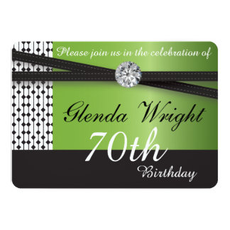 Elegant Peridot and Black Party | Any Occasions Card