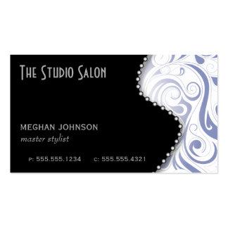 Elegant Periwinkle Swirly Swirl Business Card