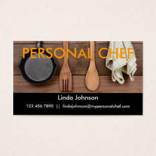Chef business cards templates zazzle elegant personal chef business card colourmoves
