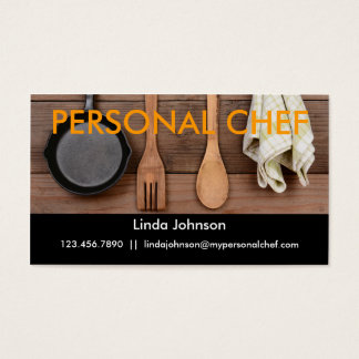 Elegant Personal Chef Business Card